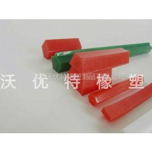 供应福建工业红色聚氨酯五角带 耐磨快速粘接TPU聚氨酯三角带批发