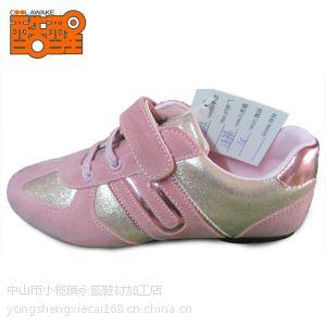 供应童鞋批发 魔术贴反毛皮加PU拼色童装女鞋 品牌童鞋 a3666