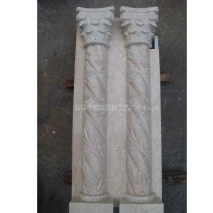 供应西班牙米黄石材雕花罗马柱