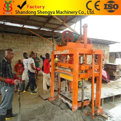 供应胜亚牌QTJ4-40最畅销非洲砖机 出口型砖机 小型免烧砖机 小型水泥砖机
