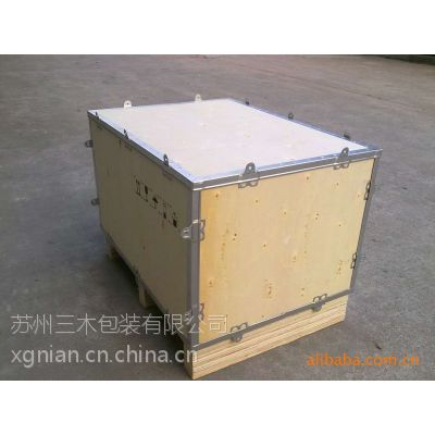 供应苏州钢带箱 木箱 熏蒸木箱