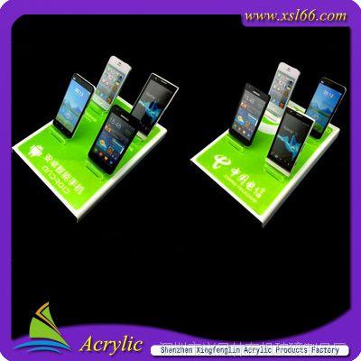 深圳有机玻璃手机展架 三星手机展架 各大品牌亚克力手机展示架