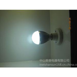 供应中山厂家直销恒流式5W LED铝壳球泡