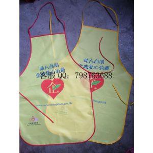 供应优质涤纶材料印字广告围裙、无纺布围裙可印制LOGO、可定制订做
