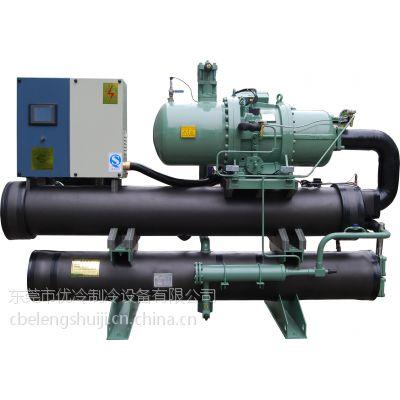 供应盐水低温螺杆冷冻机组,75HP工业螺杆冷水机价格,单机头螺杆式冷水机,化工厂配套螺杆式冷水机组
