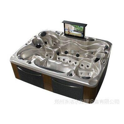 供应水疗恒温亚克力 独立 浴缸 按摩 冲浪 浴缸加热