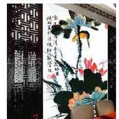 供应个性化墙纸壁画、仿真艺术品复制、宣纸画打印