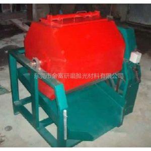 供应250L八角滚筒式研磨机厂家/水平式滚筒式抛光机/八角滚桶研磨机