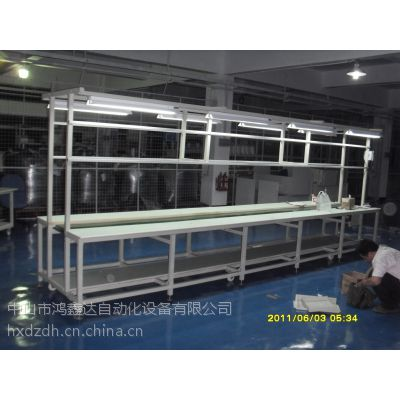 供应江门棠下电子厂产品输送皮带流水线,杜阮工业区五金塑料零件装配生产线