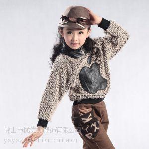 供应批发女童毛衣儿童上衣童装打底衫新年装YOYO秀优优秀品牌正品新年装9659款
