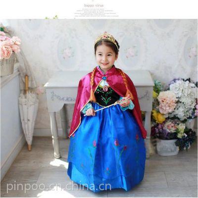 【童视界】外贸童装原单 冰雪奇缘公主连衣裙 厂家直销女童连衣裙