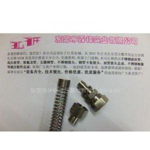 供应惠州用于铁氟龙管不锈钢快拧接头