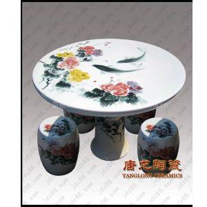 供应纳凉陶瓷凳子,景德镇瓷器凳子,陶瓷桌凳厂家