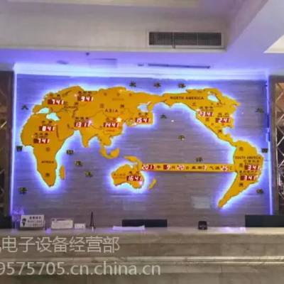 供应酒店地图钟/酒店背景墙工艺装饰-新款世界地图钟