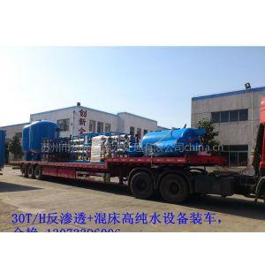 供应苏州创新水业CX一级二级RO反渗透水处理设备纯净水设备原理、RO反渗透净水器