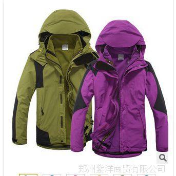 【伙拼】冲锋衣男女 户外防风防雨透气耐磨暖两件套三合一户外服
