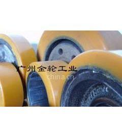 供应电动叉车轮重型聚氨脂轮 挂胶 轴承包胶 减震轮