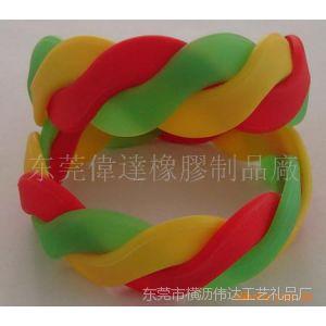 供应硅胶麻花 滴胶 五金扣 丝印 圈印 不锈钢手环项圈 滴胶硅胶手环
