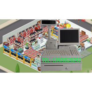 供应天津出售超市收银机白色收银机带系统软件收款机