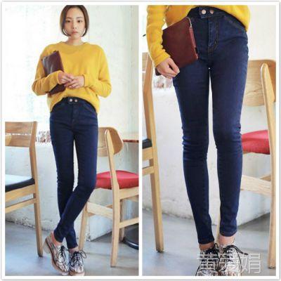 975# 韩版秋冬款 可以随意搭配的基本牛仔裤