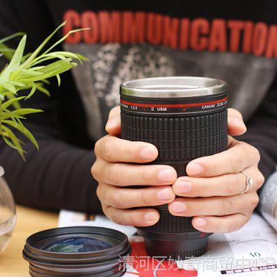 佳能相机镜头仿真水杯 保温杯 单反镜头杯 创意礼物 不锈钢茶杯