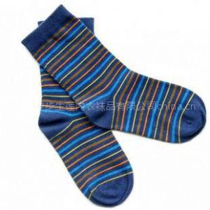 供应全棉袜子中统儿童袜条纹船袜休闲袜运动袜