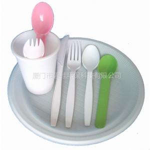 供应玉米淀粉一次性餐具。刀叉勺