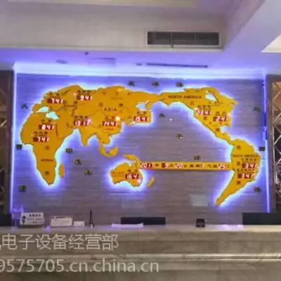 供应酒店背景墙/大堂前台吧台背景墙设计装饰-世界地图钟