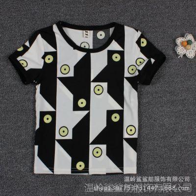 2014夏季新款童T恤 韩版纯棉儿童短袖 童装上衣 厂家批发