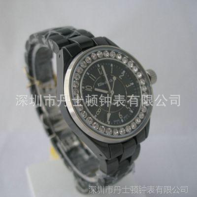 深圳礼品手表定制厂家生产供应EL6170BD黑色潮版品牌手表 高质量精品女士手表