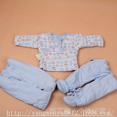 三件套特价促销婴幼儿包脚系带纯棉棉衣棉裤套 米奇皇子系带棉衣