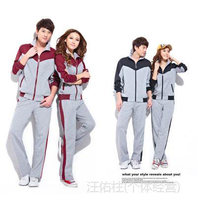 批发韩国休闲情侣套装男女装秋季卫衣 高性价比套装一手货源