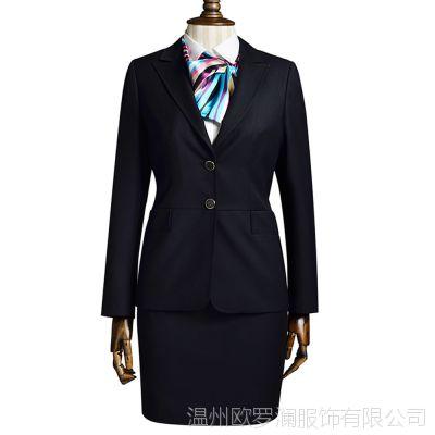 厂家批发欧罗澜新款秋冬职业装女式职业套装定制韩国OL职业装套装