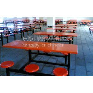 供应工厂员工食堂靠背餐桌 东莞工厂食堂餐桌 广东学校学生专用餐桌