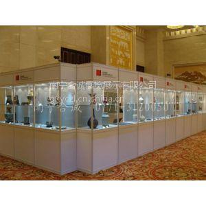 供应拍卖会专用便携拆装玻璃高柜 展览陈列玻璃柜工厂报价