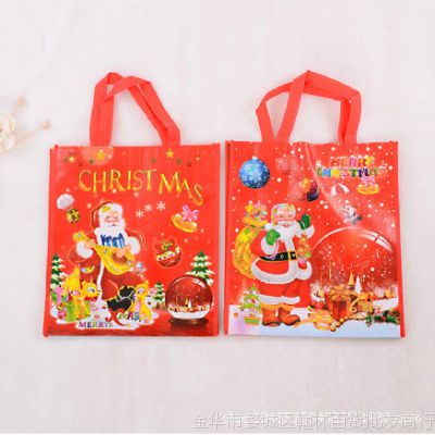 圣诞礼物儿童平安夜糖果包装创意礼品袋手提袋子节日装饰用品批发