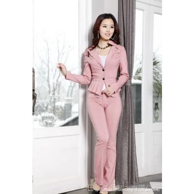 工厂2012春季新款/韩版女套装/职业女装/时尚白领套装定做/加工