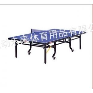 供应红双喜T2024整体折叠式球台 济南乒乓球台专卖直销