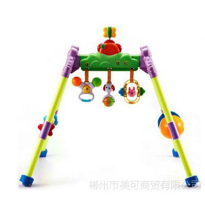 宝宝健身架 澳贝/奥贝 宝宝益智玩具 100%无毒塑料音乐健身架批发