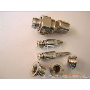 供应定制不锈钢拉杆,单头螺,倒螺,水位螺母,曲脚反牙