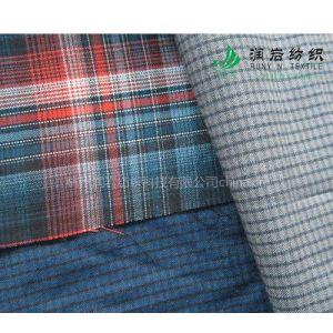 供应莫代尔涤色织格子布(梭织) 莫代尔涤色织时装面料