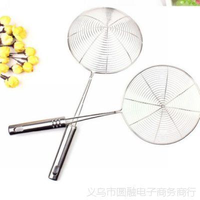 厂家供应日式多功能不锈钢漏勺 滤油勺 油捞 加粗