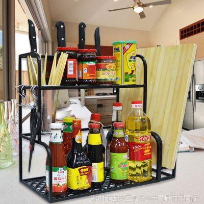 厨房置物架落地多功能厨房收纳架刀架砧板调料架厨具整理用品层架