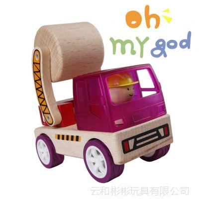 拆装益智男生木制拼装工程车套装 3岁以下宝宝儿童其他模型玩具车
