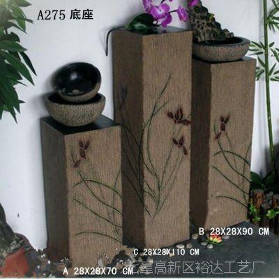 树脂工艺品批发  家居方柱形底座盆景摆件  饰品展架BJ275-小