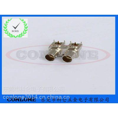 供应3G-SDI双联BNC金属全屏蔽视频连接器