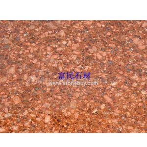 江西红色石材-光泽红石材映山红石材水头批发