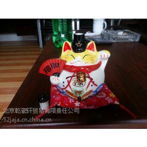 供应招财猫陶瓷酒瓶,招财猫福禄寿酒瓶