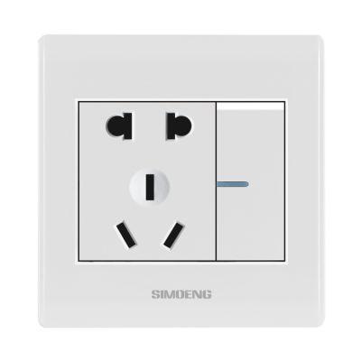 供应SIMIOENG86型墙壁开关 一开五孔插座开关