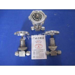 供应面板固定式卡套截止阀J93W-320P 仪表阀 隔壁针阀